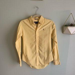 Yellow Ralph Lauren button up